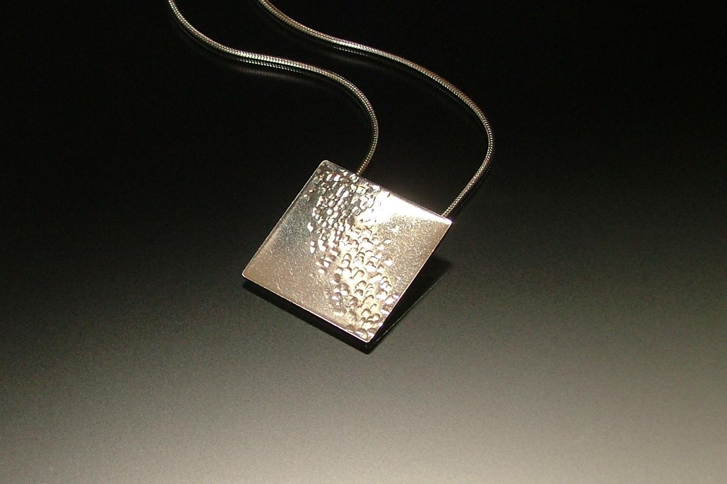 Textured Square Pendant